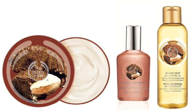The Body Shop Brazil Nut Body Butter, Eau de Toilette, and Beautifying Oil