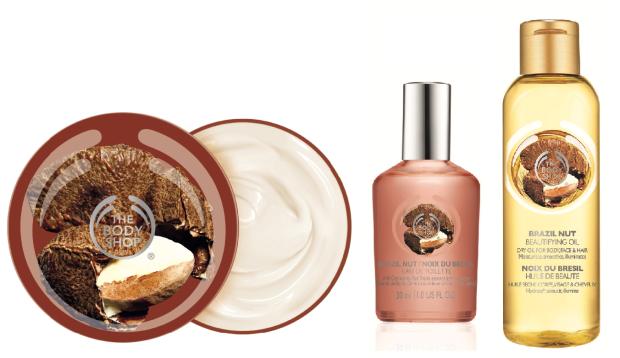 The Body Shop Brazil Nut Body Butter, Eau de Toilette, and Beautifying Oil