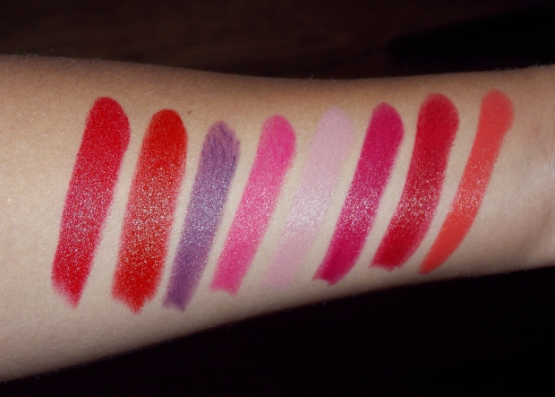 Rimmel London Lasting Finish by Kate Moss Lipstick Swatches