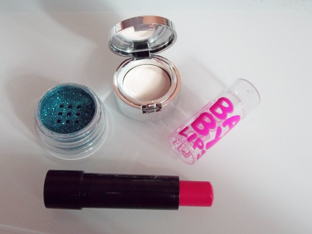 Sephora Collection Eye Glitter + Primer and Maybelline New York Baby Lips Electro