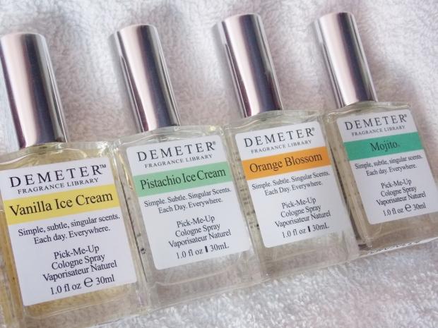 Demeter Fragrances: Vanilla Ice Cream, Pistachio Ice Cream, Orange Blossom & Mojito