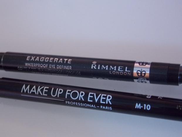 Rimmel London Exaggerate Eye Definer and Make Up For Ever Artist Liner