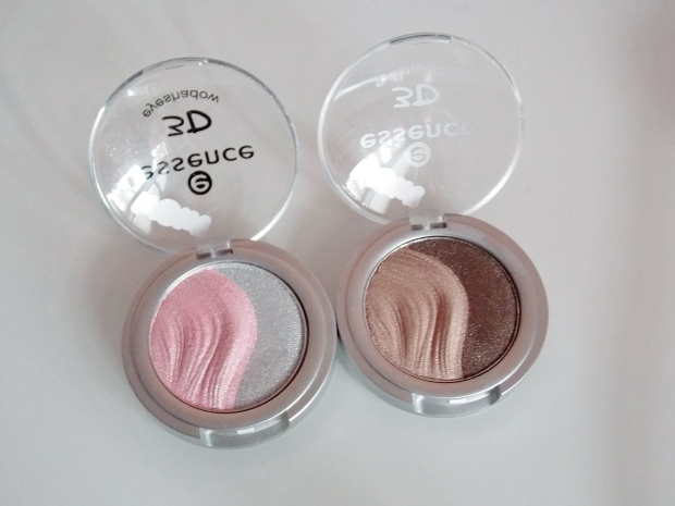 Essence 3D Eyeshadow duos in Irresistible First Love and Irresistible Chocolates