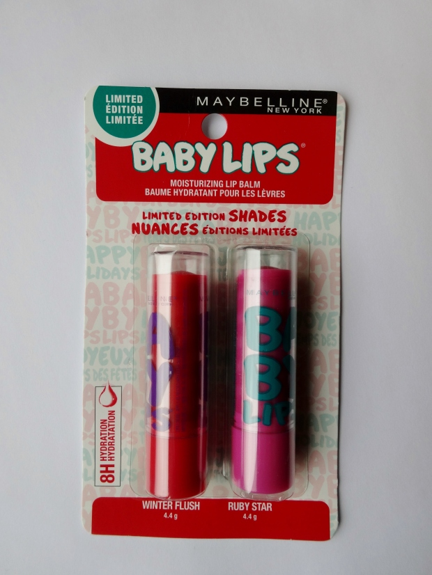 Maybelline New York Limited Edition Baby Lips in shades Winter Flush and Ruby Star