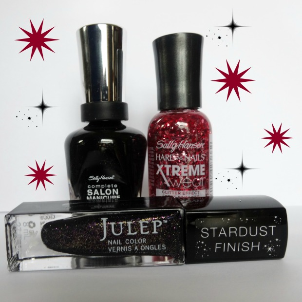 The Beauty Badger Glitter Giveaway! Win these three nail polishes: Midnight in NY, Rouge Red, and Glam Roc